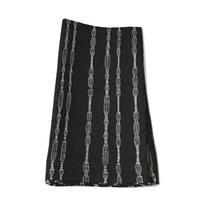 Tina Chen Designs Napkin Black White Bead Stripe