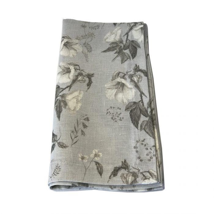 Tina Chen Designs Napkin Grey Tone Flowers