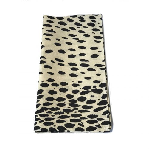 Tina Chen Designs Napkin Black Spots on Cream