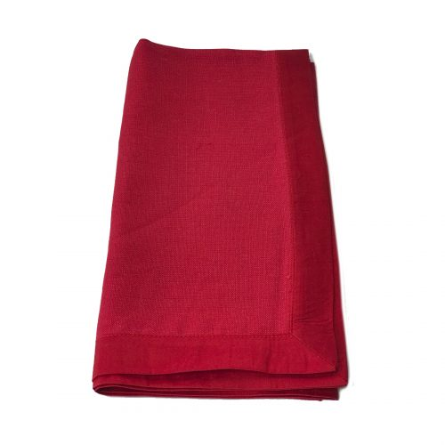 Tina Chen Designs Napkin Red With Red Ribbon Edging