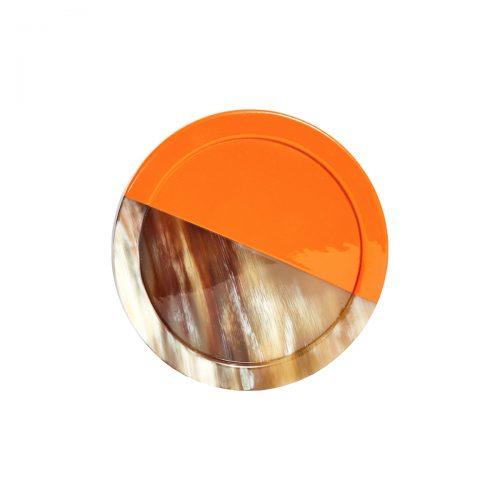 Von Gern Coasters Horn & Lacquer Orange