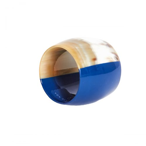 Von Gern Napkin Rings Horn & Lacquer Blue Horn