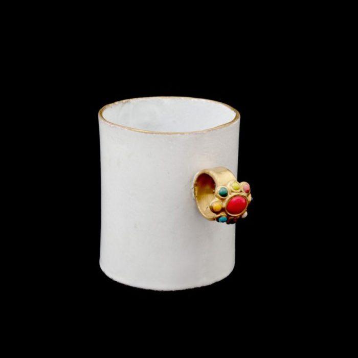 ASTIER DE VILLATTE Serena Red-Multicolour Cup