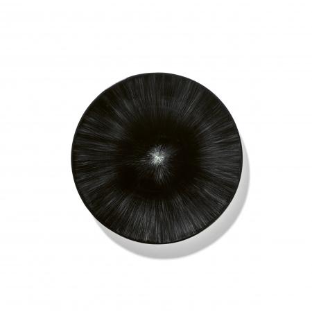 """Ann Demeulemeester PLATE OFF-WHITE/BLACK 6.75"""""""