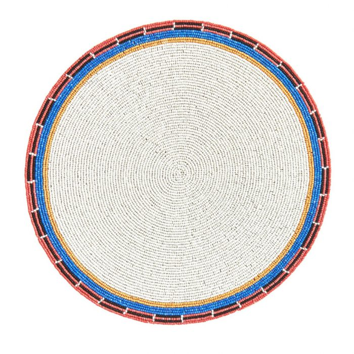 Von Gern Beaded Placemats White & Multi Beaded