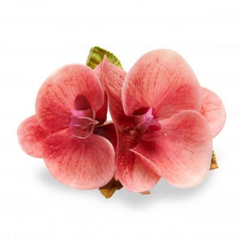 Deborah Rhodes Napkin Ring Coral Orchid