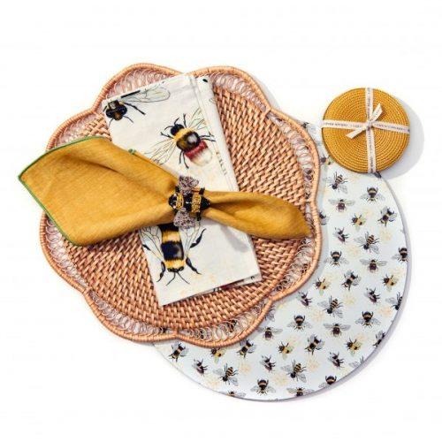 Deborah Rhodes Napkin Ring Honeybee