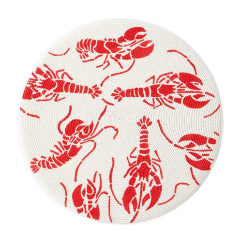 Deborah Rhodes Placemats Lobsters Round