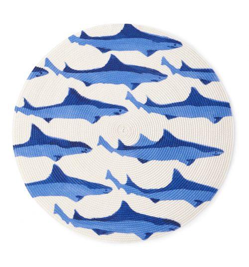 Deborah Rhodes Placemats Sharks Round