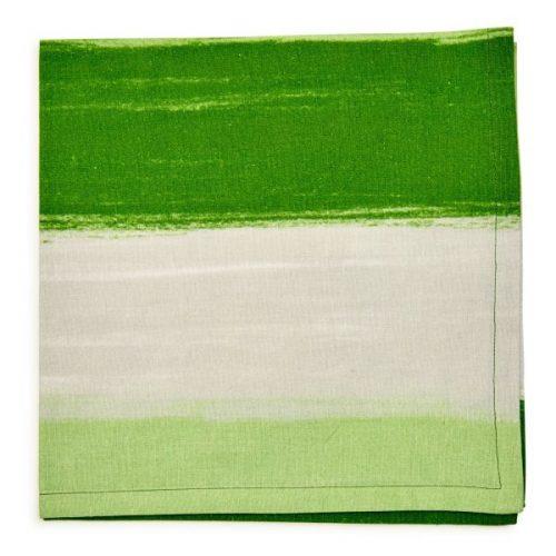 Deborah Rhodes Napkin MOMA Stripe Green
