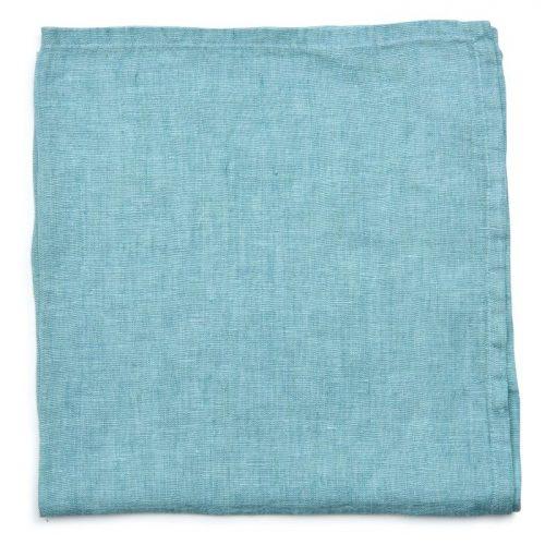 Deborah Rhodes Napkins Washed Linen Aqua