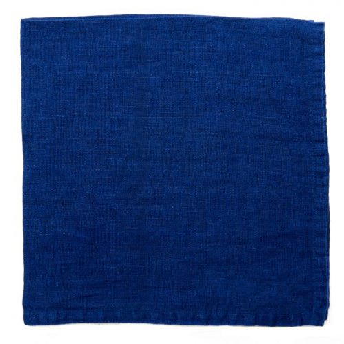 Deborah Rhodes Napkins Washed Linen Blue