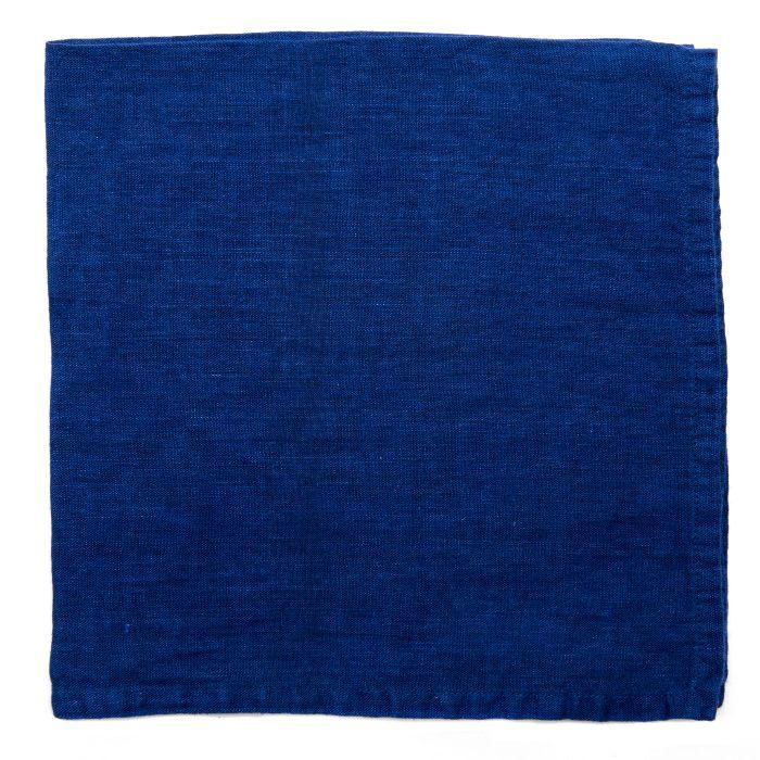 Deborah Rhodes Napkins Washed Linen Blue