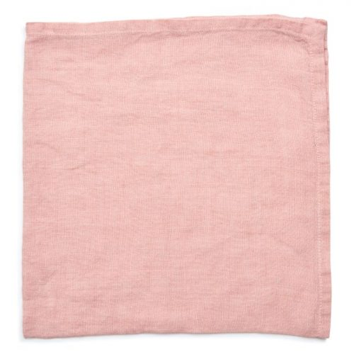 Deborah Rhodes Napkins Washed Linen Blush