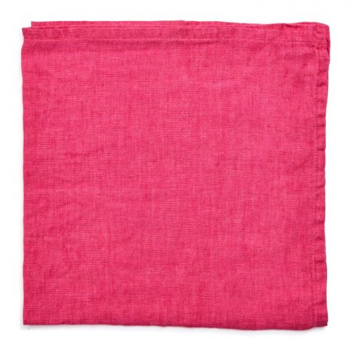 Deborah Rhodes Napkins Washed Linen Hot Pink