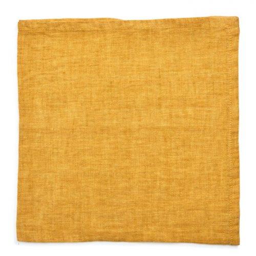 Deborah Rhodes Napkins Washed Linen Mustard