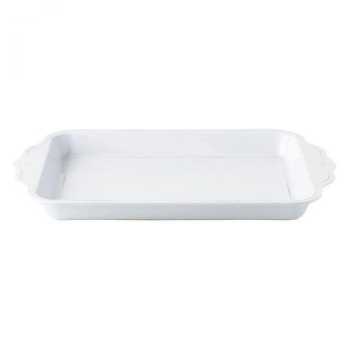 "Juliska Berry & Thread Melamine Whitewash 24"" Handled Tray"