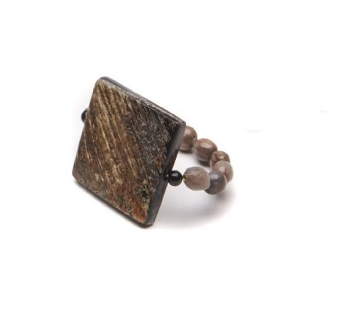 Deborah Rhodes Napkin Ring Square Horn