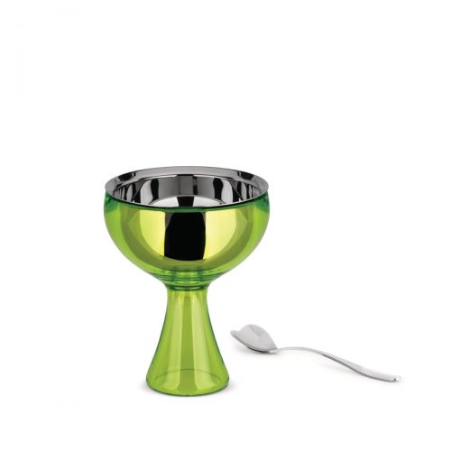 Alessi Big Love Ice Cream Bowl and Spoon in Green