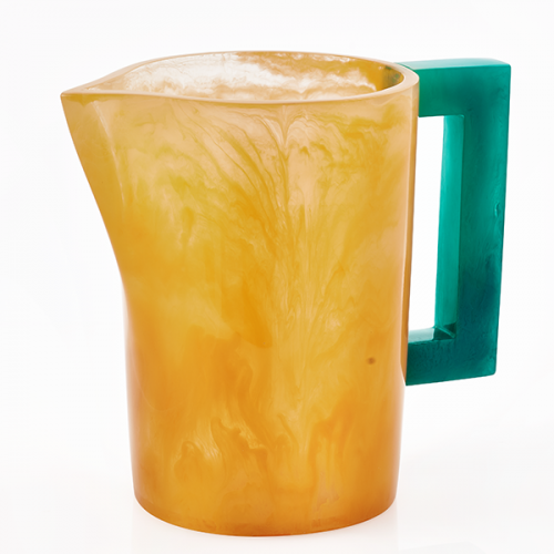 Lily Juliet Pitcher Yellow with Turquoise Handle