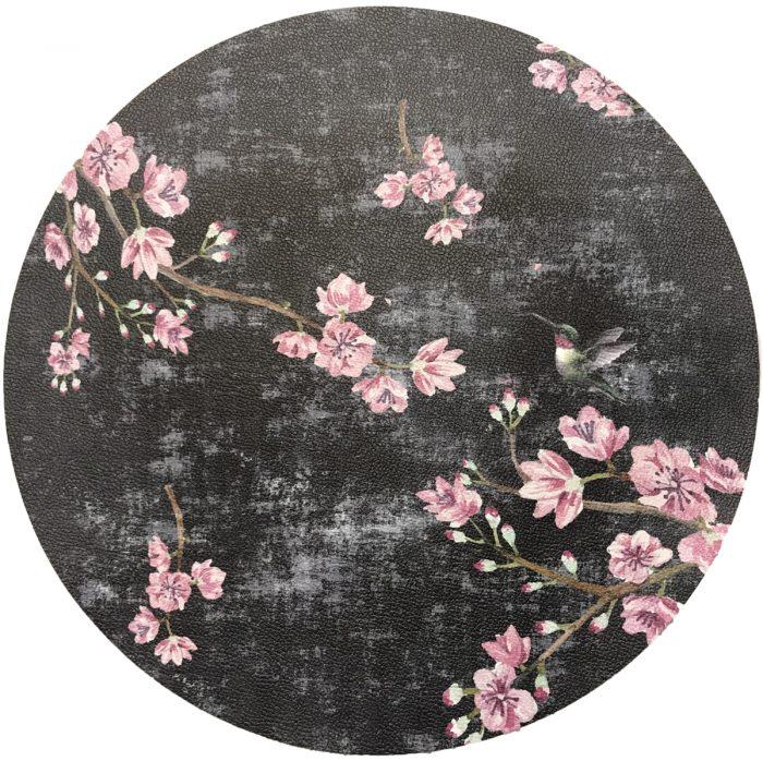 Nicolette Mayer-Cherry Blossom Hummingbird Round PLACEMAT