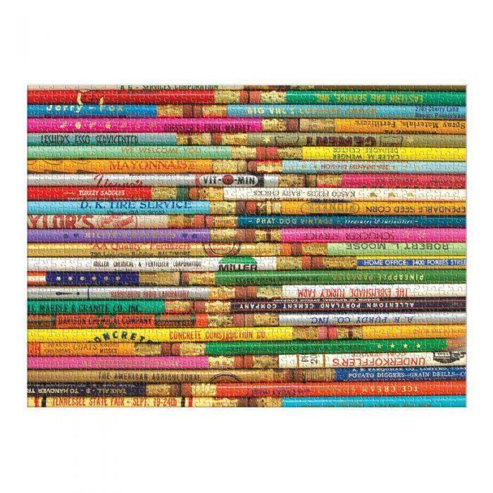 Phat Dog Vintage Pencils 1000 Piece Jigsaw Puzzle