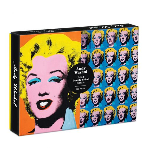 Warhol Marilyn Double Sided 500 Piece Jigsaw Puzzle