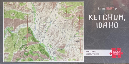 Ketchum Idaho GPS Map 1000 Piece Jigsaw Puzzle