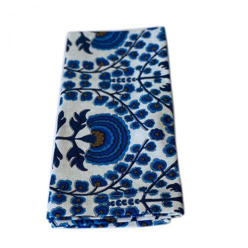 Tina Chen Napkin Blue Flowers
