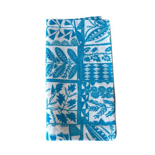 Tina Chen Napkin Blue Leaves Pattern