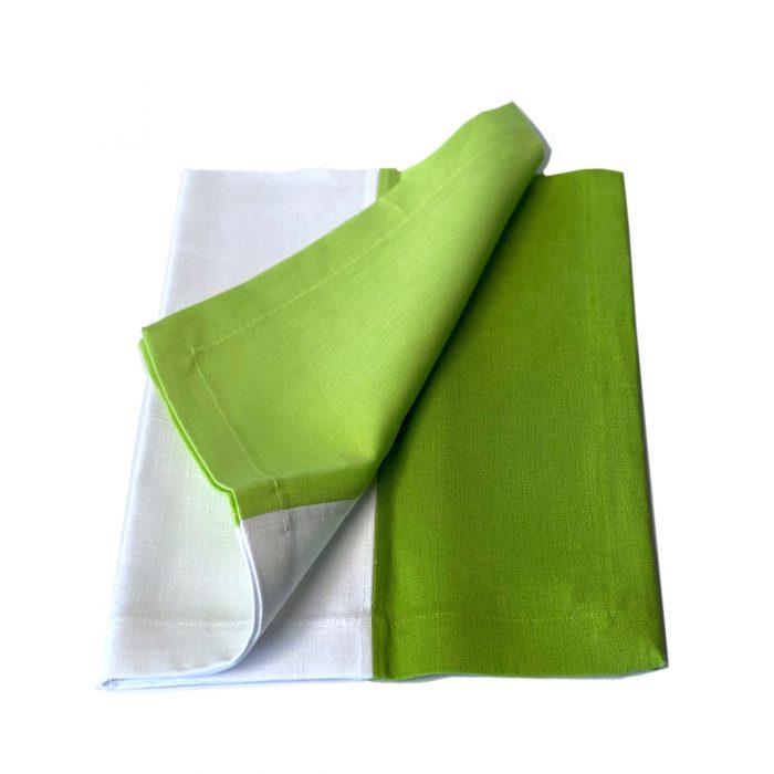 Tina Chen Napkin Green and White Tone