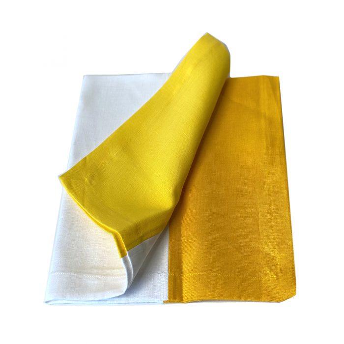 Tina Chen Napkin Yellow and White Tone