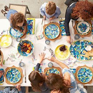 Juliska Blue Rose Melamine Dinner Plate