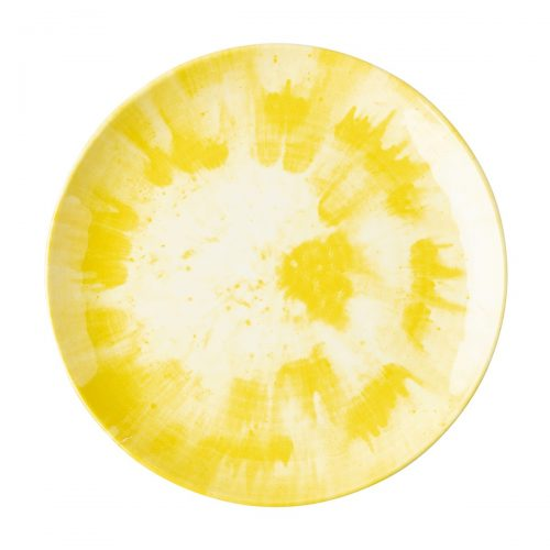 Juliska Splatter and Spin Yellow Melamine Dinner Plate