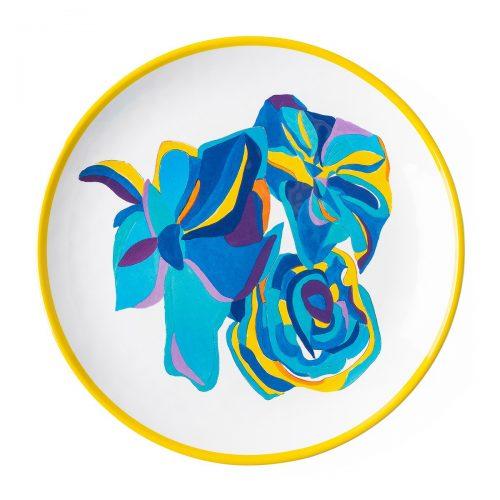 Juliska Blue Rose Melamine Dessert/Salad Plate