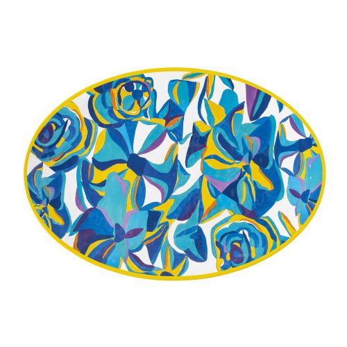 Juliska Blue Rose Melamine Serving Platter