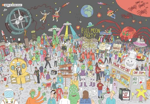 Where's Bowie? 500 Piece Jigsaw Puzzle