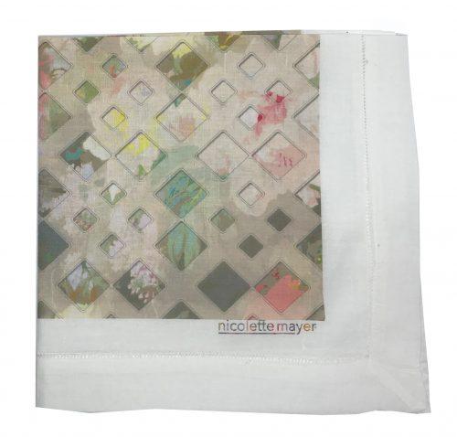 DEFOSSE TRELLIS AZALEA napkin