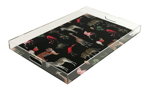"Exotic Black 22.5"" x 14.5"" Acrylic Tray"