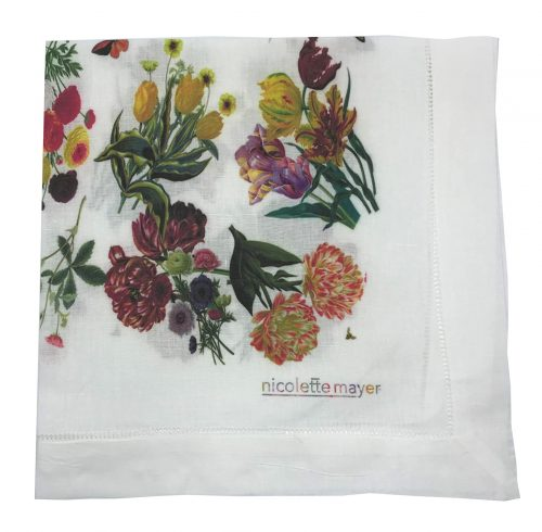 Floara Fauna White Napkin - Set of 2