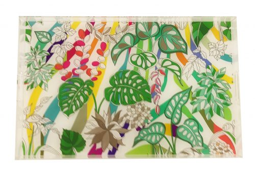 "Sabi Jungle Natural 22.5"" x 19"" Acrylic Tray"