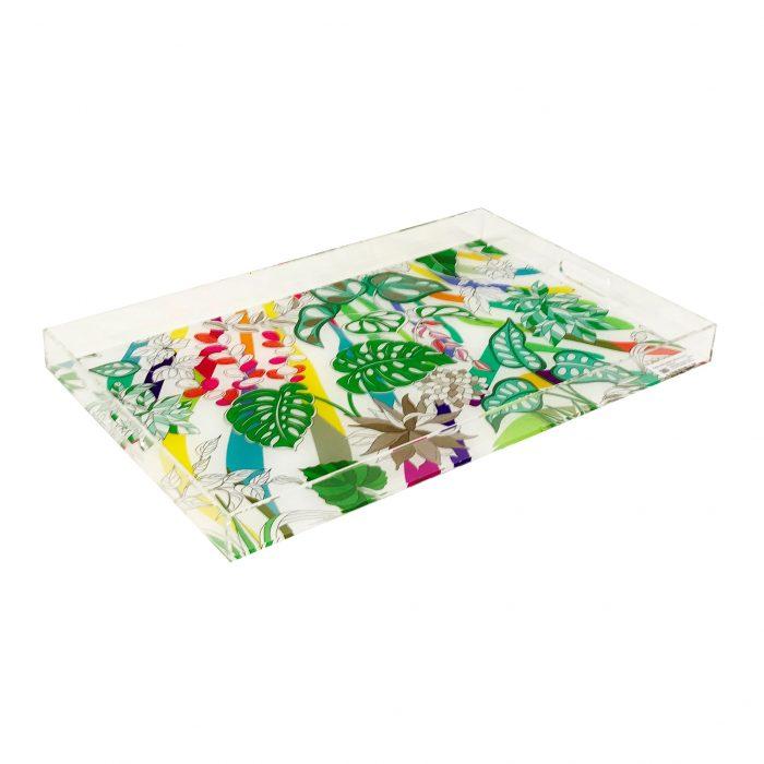 """Sabi Jungle Natural 22.5"""" x 19"""" Acrylic Tray"""