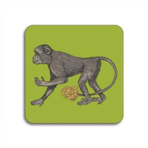 Monkey Round Coasters - Set of 4