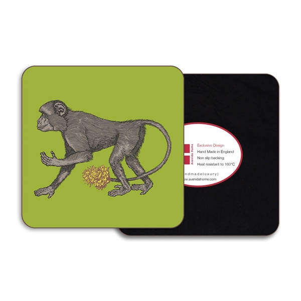 Monkey Round Coasters - Set of 4