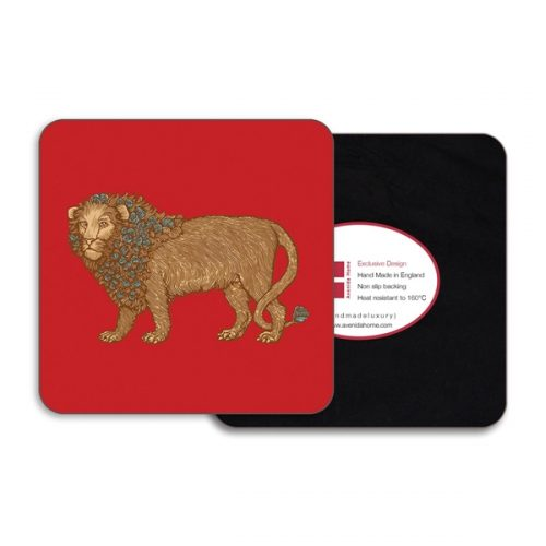 Lion Square Coasters - Set of 4
