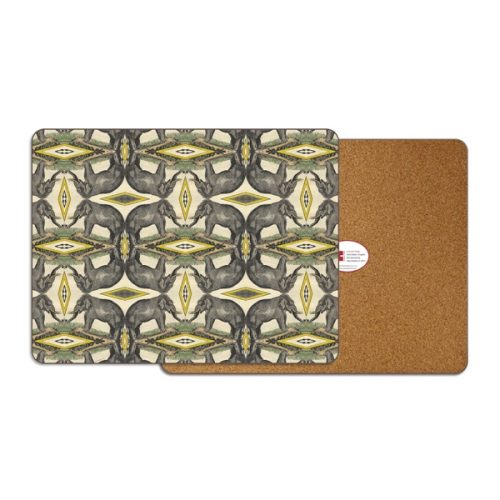 Elephants Rectangle Placemat