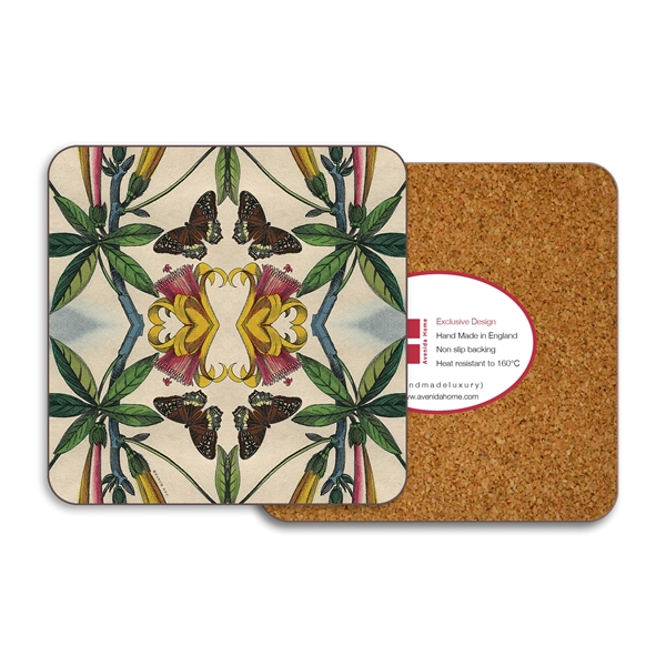 Yellow Flower Coasters - Set of 4