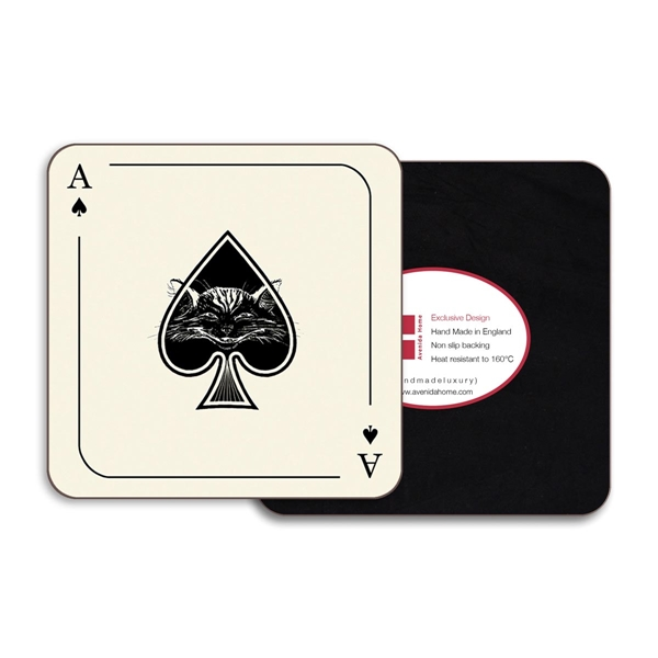 Ace Square Coasters - Set of 4