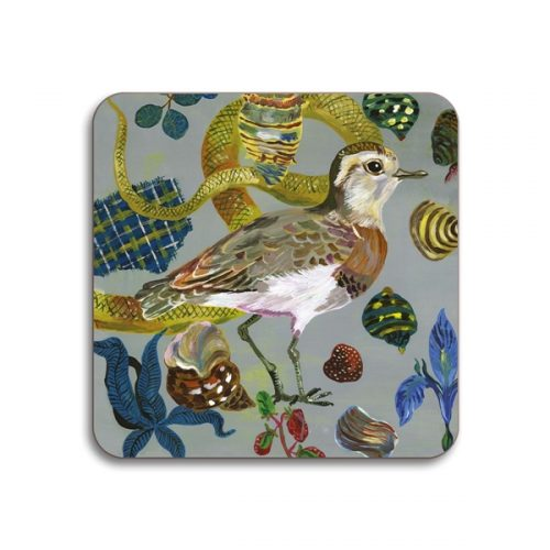 Caspian Plover Square Coasters - Set of 4