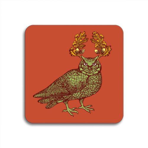 Owl Square Coasters - Set of 4